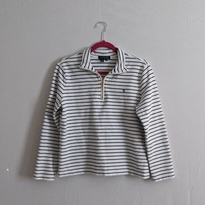 Lauren Ralph Lauren Striped Quarter Zip Pullover